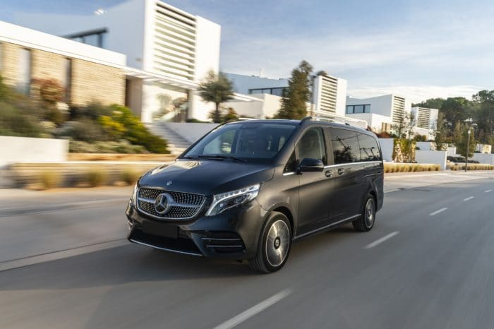 Mercedes V Class with driver